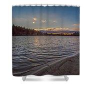 Houghton's Pond Sunset Shower Curtain