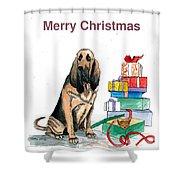 Hounddog Christmas Shower Curtain