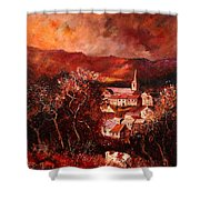 Hour Village 67 Shower Curtain