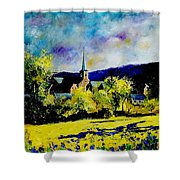 Hour Village Belgium Shower Curtain