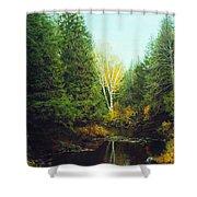 Hourglass Light Shower Curtain