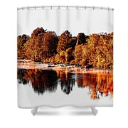 Housatonic River Mist Shower Curtain