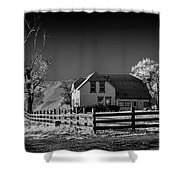 House And Cottonwoods Shower Curtain