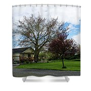 House At The City Limits Shower Curtain