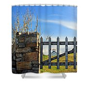 House Behind The Fence Shower Curtain