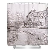House By Lake Shower Curtain