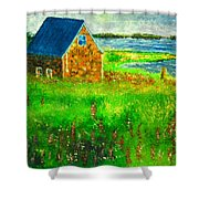 House By The Field Shower Curtain