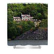 House By The Llyn Peris Shower Curtain
