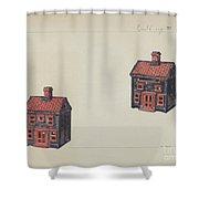 House Coin Bank Shower Curtain