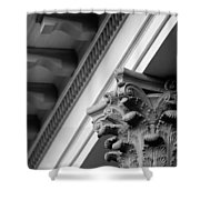House Column Black And White Shower Curtain