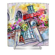 House Entrance In Garrucha Shower Curtain