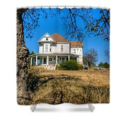House Framed By Tree Shower Curtain