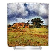 House In A Desert Land Shower Curtain