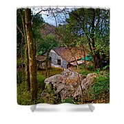 House In China Woods Shower Curtain