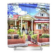House In Curepe Shower Curtain