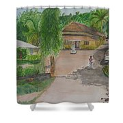 House In Goa Shower Curtain