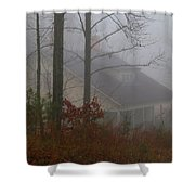 House In The Fog Shower Curtain