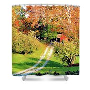 House In The Hills Shower Curtain