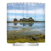 House In The Middle Shower Curtain