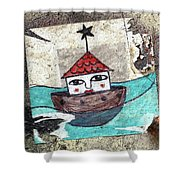House In The Sea Shower Curtain