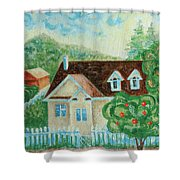 House In The Village Shower Curtain