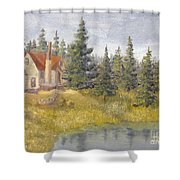 House In The Woods 2  Shower Curtain