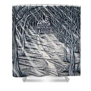 House In The Woods Shower Curtain