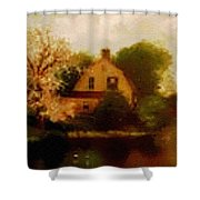 House Near The River. L B Shower Curtain