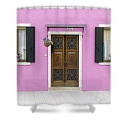 House Of Venice - Pink Shower Curtain