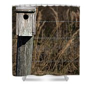 House On A Crooked Fence Post Shower Curtain