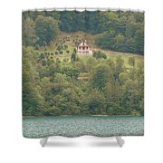 House On A Hill Shower Curtain