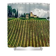 House On A Hill-tuscany Shower Curtain