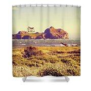 House On An Island Shower Curtain