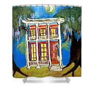 House On Esplanade  Shower Curtain