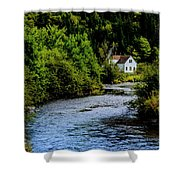 House On Margaree River Shower Curtain
