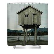 House On Stilts, Coal Harbour Vancouver Shower Curtain