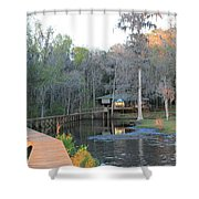 House On The Inlet Shower Curtain