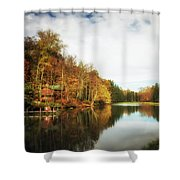 House On The Lake II Shower Curtain
