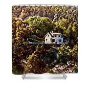House On The Side Of The Mountain Shower Curtain