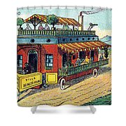 House On Wheels, 1900s French Postcard Shower Curtain