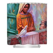 House Pigeon Shower Curtain