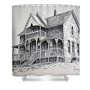 House Virginia City Montana Shower Curtain