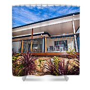 House With Deck Shower Curtain