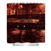 Houseboat On The Seine Shower Curtain