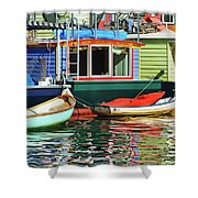 Houseboats 4 - Lake Union - Seattle Shower Curtain