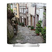 Houses Along Alley In The Old Town Of Porto Shower Curtain