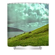 Houses And Ruins.  Shower Curtain