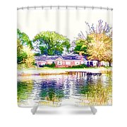 Houses By The Lake 1 Shower Curtain