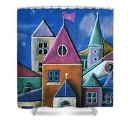 Houses Shower Curtain