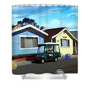 Houses In A Row Shower Curtain